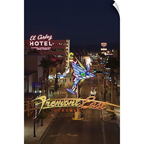 CANVAS ON DEMAND El Cortez, Fremont Street, The Strip, Las Vegas, Nevada Wall Peel Art Print, 32
