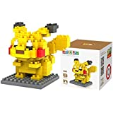 Pikachu Pokemon- Building Blocks for Kids and Fans – iBlock Fun LOZ Diamond Micro Block Set - Pikachu Toy for Collectors and Pokémon Enthusiasts- Miniature Building Blocks- Perfect Gift for All Ages