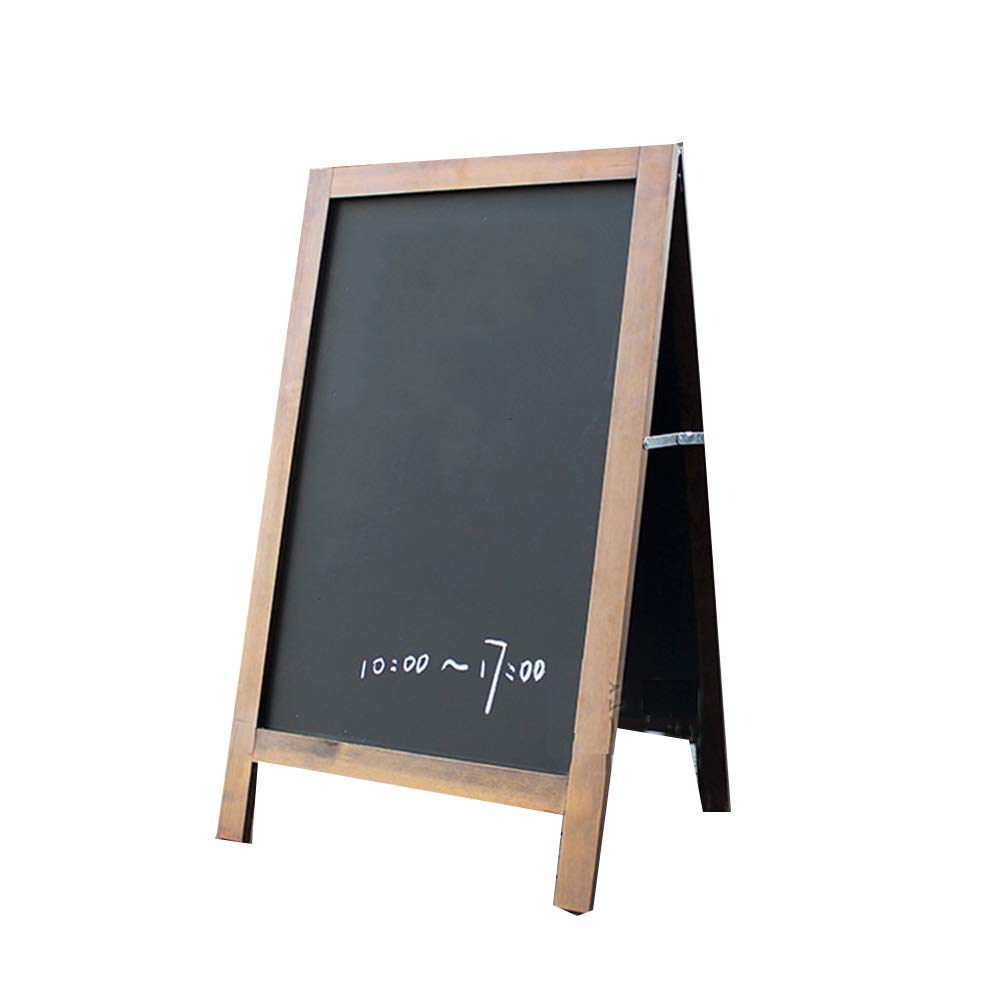 LIANGJUN Message Board Chalkboards Retro Type A Double Sided Floor-Standing Chalk Durable Display Board Indoor/Outdoor (Color : A, Size : 60.5X106CM)