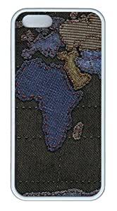 Apple iPhone 5S Cases - Geography cartography TPU Case Cover for iPhone 5S and iPhone 5 - White