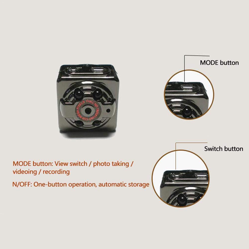 Sunneey Mini cámara Oculta 1080P SQ11 espía cámara Web portátil Deporte DV cámara con visión Nocturna y detección de Movimiento para cámara de vigilancia de ...