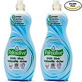 Palmolive Soft on Hands & Soft on Nails Utra Dish + Sink Dishwashing Liquid Soap Detergent, 25 Oz Twin Pack, (25 Oz x 2, Total 50 Oz)