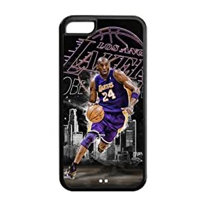 LA Lakers Kobe Bryant Image Theme Back TPU Case for iPhone 5C-by Allthingsbasketball Kimberly Kurzendoerfer