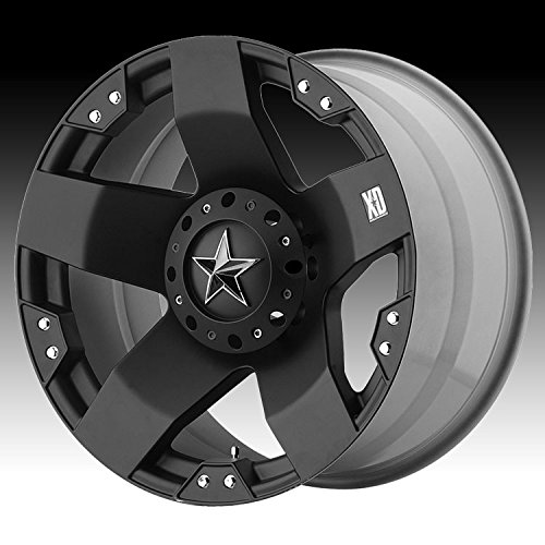KMC Wheels XD Series  Rockstar Wheel with Matte Black Finish (17×8″/6×5.5″)