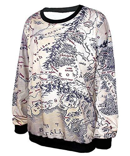 Bolawoo Imprimer Mode Col Sweatshirts Chemises Rond Manches Sweat Longues Casual Marque Élégant Chemise Grau Confortable Automne Pull Hiver Femmes Sport rxYqwvfr