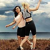 "AJISAI Womens 8.5"" High Waist Compression Athletic Yoga Running Workout Shorts Regular/Plus Size(XS-2XL)"