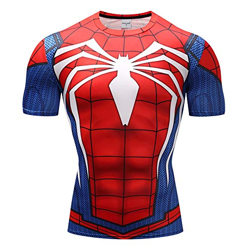 Avengers Endgame Costume T Shirt Spiderman ps4 Costume Ironman Captain America]()
