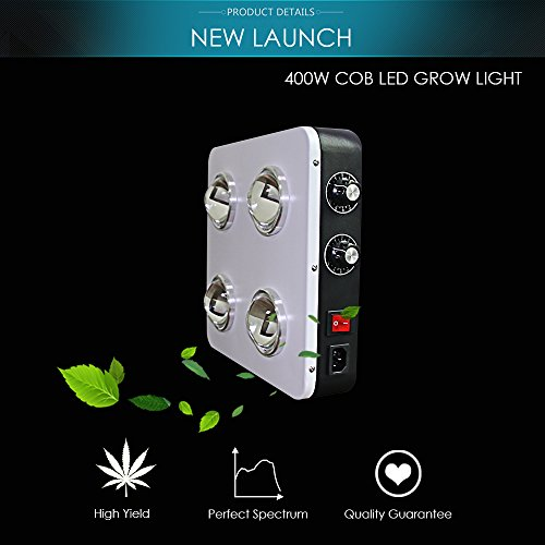 LED Grow Light COB 12-Band Full Spectrum UV IR B400 400w Dimmable Plant Lights for Marijuana Medical Hydroponics Greenhouse indoor Plant Veg /Flower/Bloom, Buy right, No buy cheap ! by BloomBeast