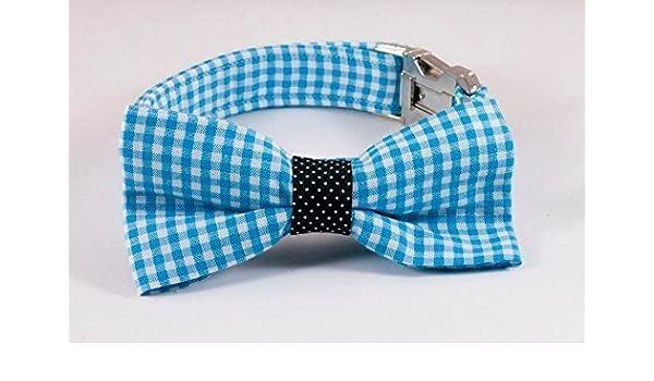 Carolina Panthers Blue and Black Dog Bow Tie