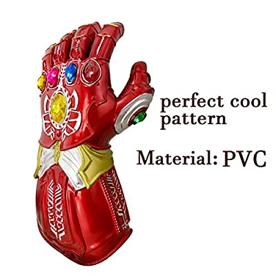 XXF New Iron Man Infinity Gauntlet for Kids, PVC Glove with Removable Infinity Stones-3 Flash Mode.: Toys & Games