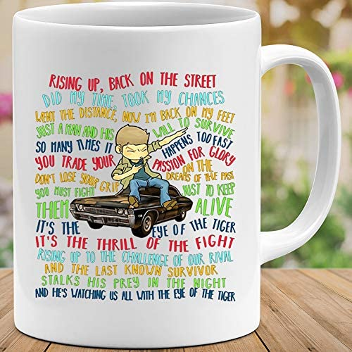 Amirna Survivor Eye Of The Tiger Lyric Rising Up Back On The Streets Did My Time Took My Chances Mug Coffee Or Tea Amazon Ca Home