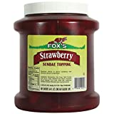 Fox's Strawberry Dessert Topping 64 Oz (6 Pack)