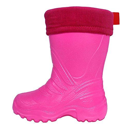 LEMIGO Kinder EVA Gummistiefel gefüttert leicht TERMIX 861 Pink