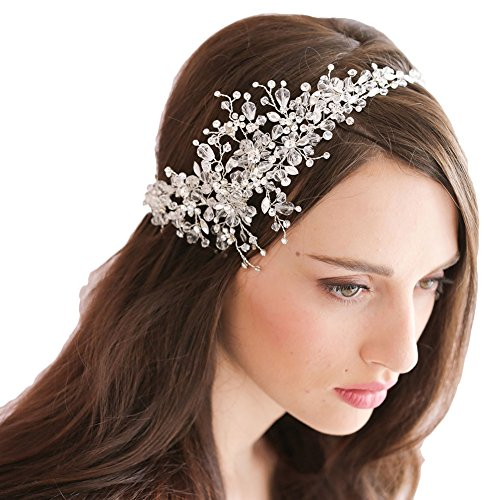 Crystal Cluster Pin (M Bridal Women's Crystals Cluster Wedding Hairpins Brides Frontlet Hair Vine O016)