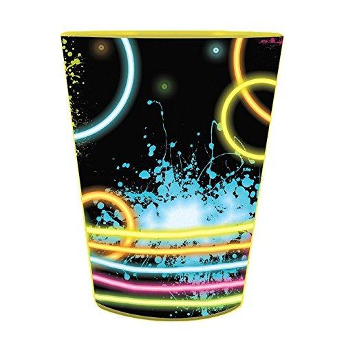 16oz Glow Neon Party Plastic Loot Treat Favor Keepsake cups (Neon Sweet 16)