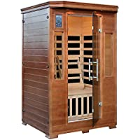 Hemlock Premium Infrared Sauna with 6 Carbon Heaters: 2 Person Capacity