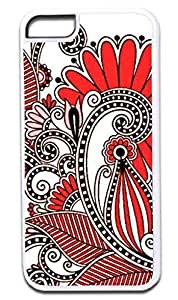 01-White and Pink Paisley- Case for the APPLE IPHONE 6 ONLY!!! (Not Compatible with the Iphone 6 PLUS!!) -Hard White Plastic Outer Case