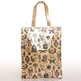HARRODS BEIGE ACCESSORIES PVC TOTE BAG (L), Unisex Top-handle Shoulder Shopping Carrier - BEST GIFT ITEM