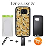 Mr Doge MEME Custom Galaxy S7 Cases-Black-Rubber,Bundle 2in1 Comes with Custom Case/Universal Stylus Pen by innosub