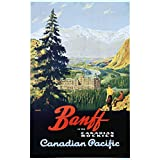 Banff - Canadian Pacific Vintage Poster (artist: Trompf) Canada (12x18 Art Print, Wall Decor Travel Poster)