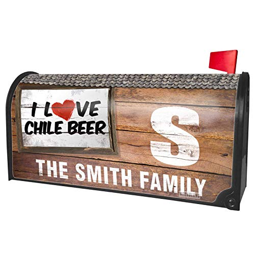 NEONBLOND Custom Mailbox Cover I Love Chile Beer ()