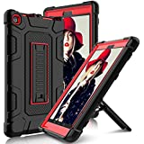 Elegant Choise All-New Amazon Fire HD 8 2017 Case with Stand, Heavy Duty [Shockproof] Full Body Armor Defender Rugged Protective Cover Case for Amazon Kindle Fire 8 2017 Release(Red/Black)
