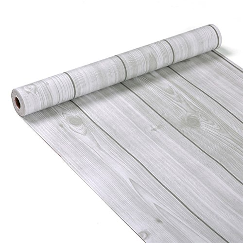 Decorative Wood Grain Contact Paper Self Adhesive Shelf Liner Peel and Stick Wallpaper for Covering Kitchen Cabinet Countertop Shelves Craft Projects 17.7x78.7 Inches