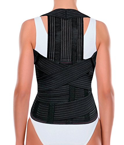 ORTONYX Comfort Posture Corrector Back Support Brace for Men and Women, Clavicle and Shoulder Support, Upper and Lower Back Pain Relief, Removable Dorso-Lumbar Pad, Thoracic Kyphosis Aid/M by ORTONYX