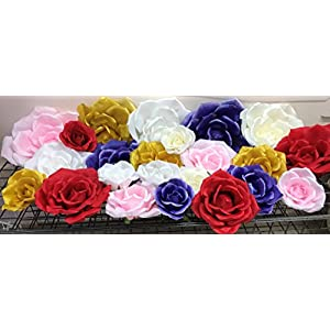 Classic Elegant Giant Silk Flowers. Decorations, for Wedding Backdrop, Photo-Booth, Backdrop, Nursery, Wall, Archway, Home, Baby Shower, Centerpiece 41