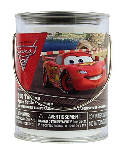 UPC 701806571823, Disney Cars Temporary Tattoos Kit in a Bucket - 100 Tattoos