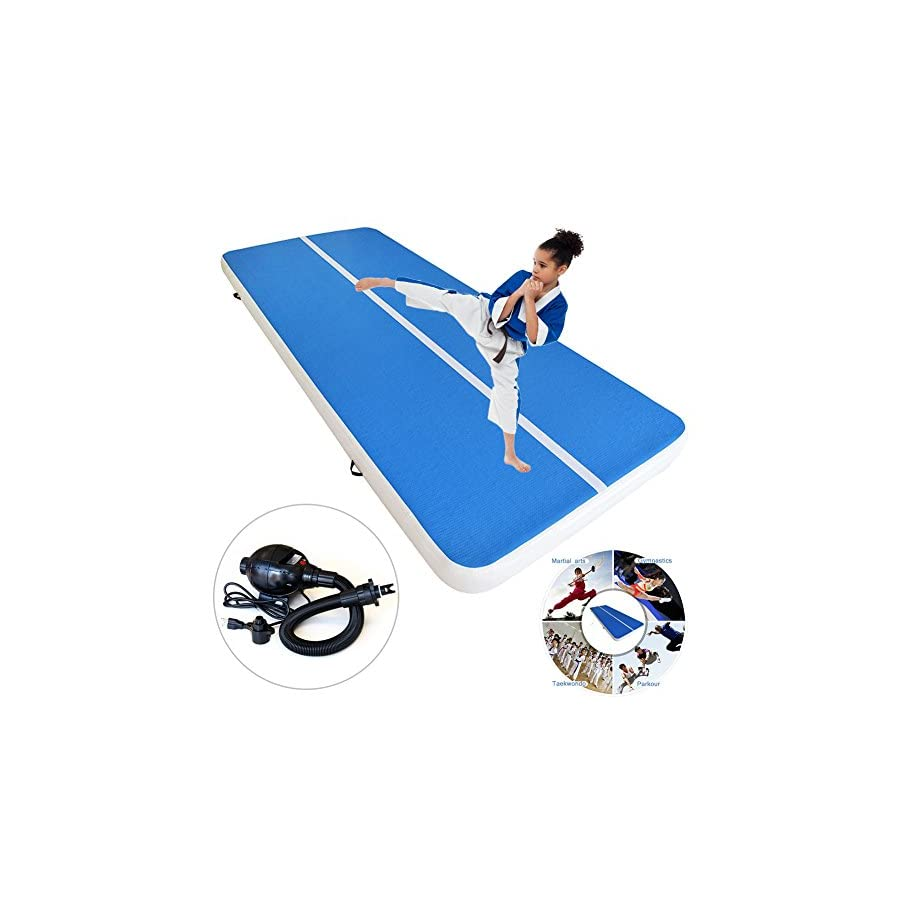 Inflatable GYM Mat Home Air Floor Inflatable Tumbling Mat for Gymnastics Inflatable Air Track + Free Pump 110V