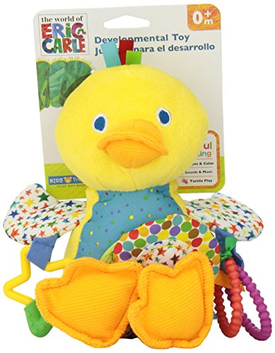 World of Eric Carle, The Very Hungry Caterpillar Activity Toy with Sound, Duck (Duck Infant Stuffed Animal)