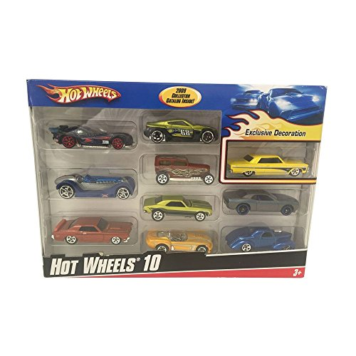 Hot Wheels Exclusive Decoration 2009 Collector Catalog 10 Car Gift Pack