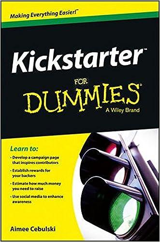 Ebook eBøger gratis download Kickstarter For Dummies PDF FB2 iBook by Aimee Cebulski
