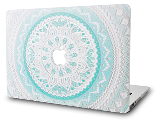 LuvCase-MacBook-Air-13-Inch-Case-Plastic-Hard-Shell-Cover-for-MacBook-Air-133-A1466-A1369-Green-Medallion
