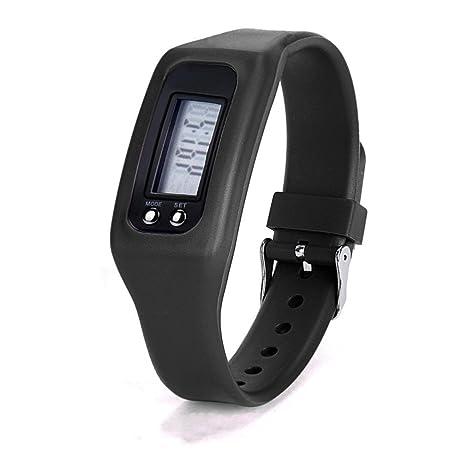 Xinantime Reloje Hombre,Xinan Digital LCD Podómetro Reloj de Pulsera Deportivo Trotar Corriendo (Negro
