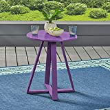 Christopher Knight Home Haiti Outdoor Iron Bistro Table by Matte Purple