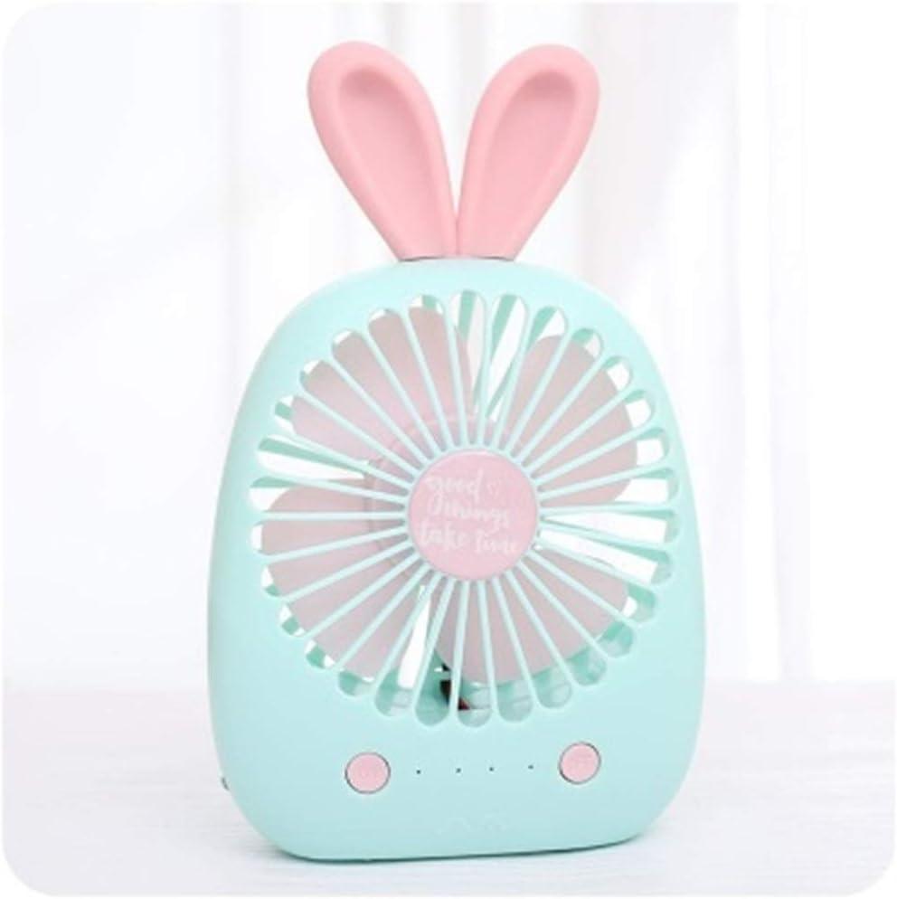 Air Cooling Fan Girl Cactus Shape USB Charging Mini Fan Portable Carrying Cartoon Cute Desktop Small Fan Color : 02