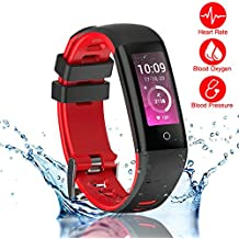 READ New Smart Fitness Tracker, Smart Watch with Blood Pressure Heart Rate Sleep Pedometer Camera remote shoot Blood Oxygen Monitor Smart Wristband Bracelet G16 for Bluetooth Andriod and ios