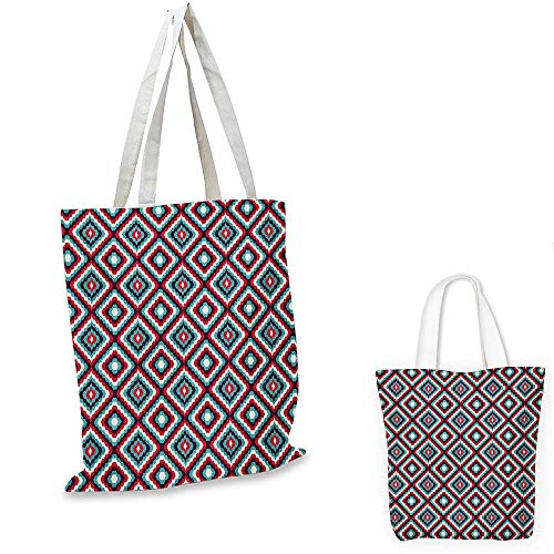 (Retro canvas laptop bag Abstract and Geometric Pattern in Retro Style Optical Illusion Mosaic Tile Design canvas tote bag with pockets Multicolor. 14