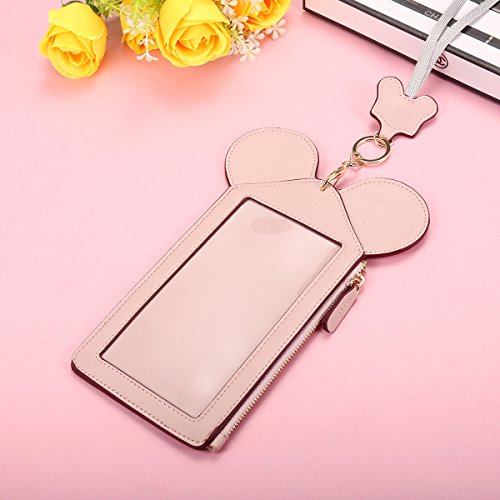 Neck Pouch, Charminer Women Cute Animal Shape Lanyard Phone Purse Neck Bag Travel Documents, Card Holder Coin Purse Neck Bag for 4.7/5.5in Phones Light Pink 4.7in by CHARMINER (Image #6)