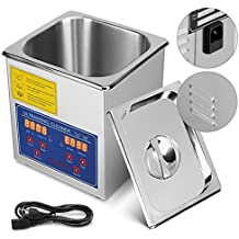 Mophorn Ultrasonic Cleaner 6L Commercial Ultrasonic Cleaner Professional Stainless Steel Industrial Ultrasonic Cleaner Jewelry Cleaner with Heater Timer