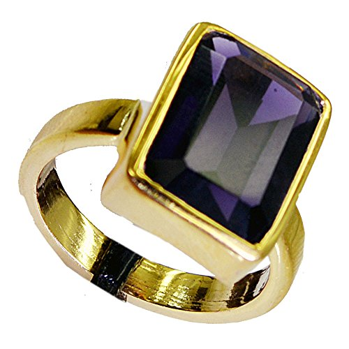 (Jewelryonclick Amethyst CZ Gold Plated Promise Rings Gift For Women Available In Size)