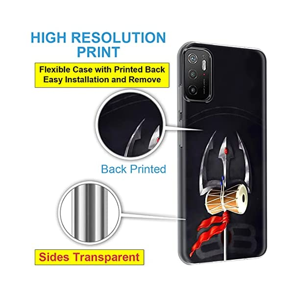 Fashionury Back Cover for Poco M3 Pro 5G Designer | Printed|Transparent |Flexible| Silicon -D043 2021 July Compatibility - Designed for Poco M3 Pro 5G Reliable Protection - This Desginer cover provide full 360* protection to the mobile, As, It covers from the four sides of your phone. This cover helps to protect your phone from Accidental Drops, Bumps and Scretches. Installation - Simply has to unbox the cover and has to apply directly, No Tool is required. Completely Scratch Resistant, Protective