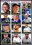2013 Colorado Rockies Topps Heritage Baseball Complete Mint 12 Basic Card Team Set