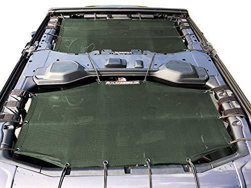 Alien Sunshade Jeep Wrangler Sunshade Jeep JL 4 Door 2-Piece Front & Rear Jeep JL Sunshade Top 2018+ (Forest Green)