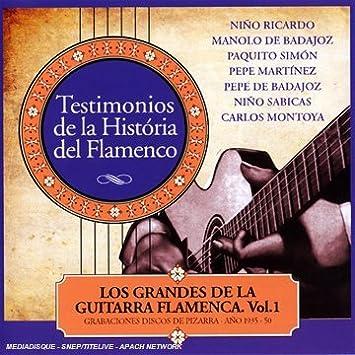 Los Grandes De La Guitarra Flamenca: Various Artists: Amazon.es ...