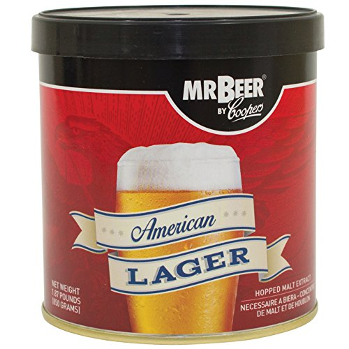 Mr. Beer 60951 American Lager Beer Refill Kit, 2 Gallons (Hop Flavor And Aroma)
