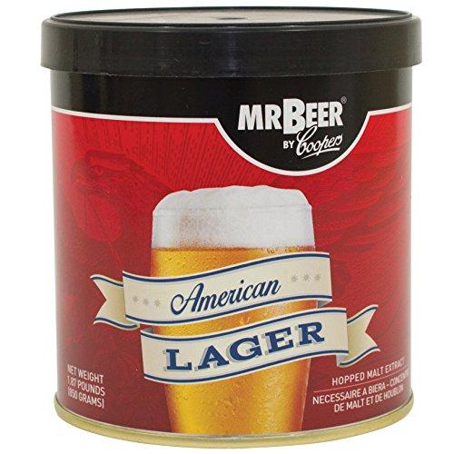 Mr. Beer 60951 American Lager Beer Refill Kit, 2 -