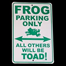 Frog Legs Toad Art Froggy Aluminum Sign Metal Plaque